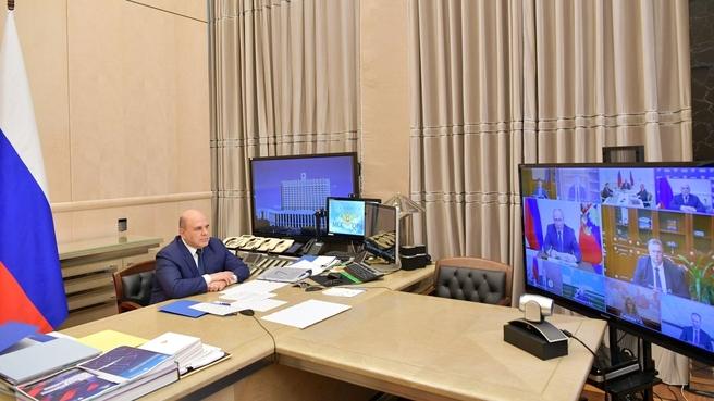 Михаил Мишустин и члены Правительства приняли участие в совещании у Президента по реализации отдельных положений Послания Федеральному Собранию