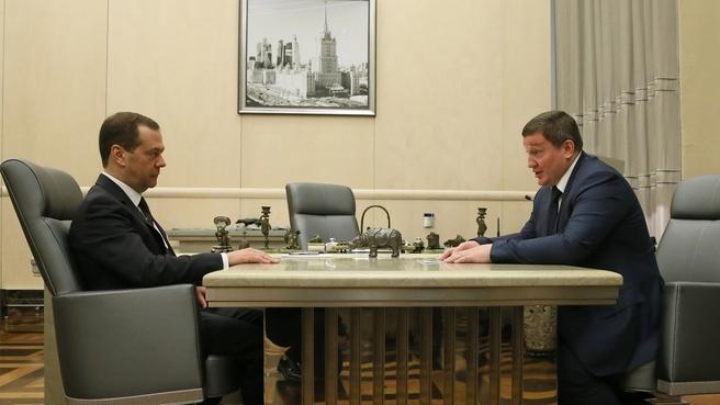 Встреча с губернатором Волгоградской области Андреем Бочаровым