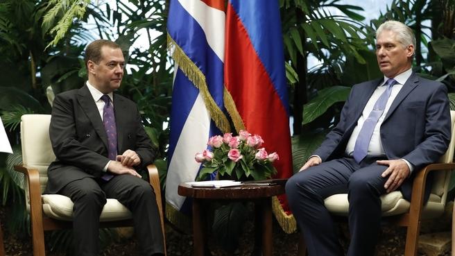 Встреча с Председателем Государственного совета и Совета министров Республики Куба Мигелем Диас-Канелем Бермудесом