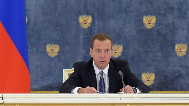 Дмитрий Медведев на заседании Правительственной комиссии по вопросам социально-экономического развития Северо-Кавказского федерального округа