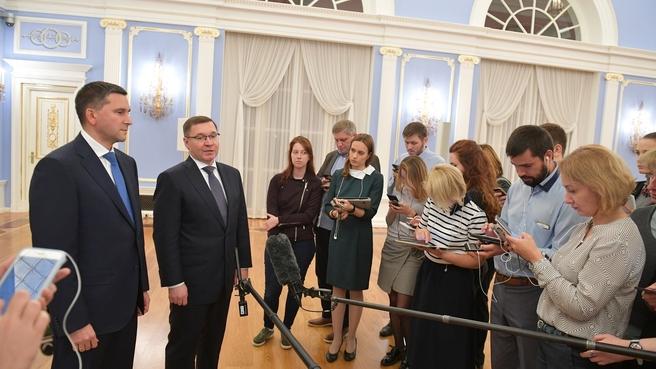 Брифинг Владимира Якушева и Дмитрия Кобылкина