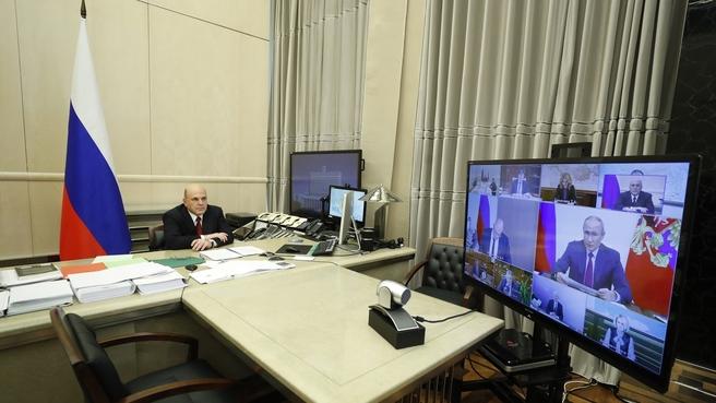 Совещание у Президента России с членами Правительства