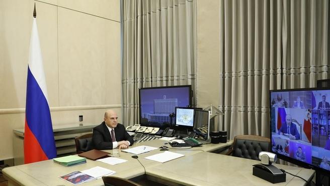 Михаил Мишустин на заседании Совета при Президенте России по стратегическому развитию и национальным проектам