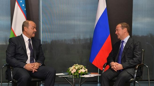 Беседа с Премьер-министром Узбекистана Абдуллой Ариповым