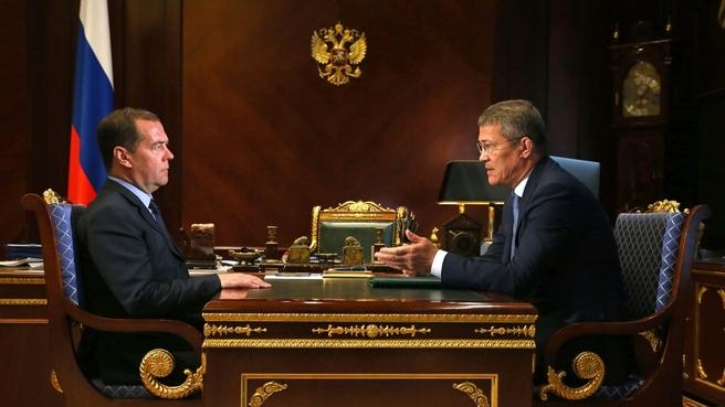 Встреча с временно исполняющим обязанности главы Республики Башкортостан Радием Хабировым
