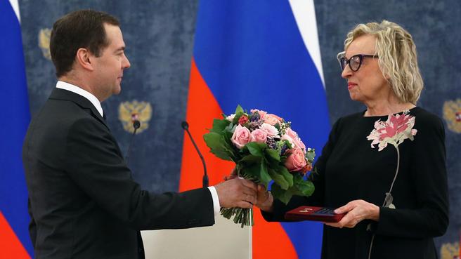 С директором Санкт-Петербургского государственного театра марионеток имени Е.С.Деммени Наталией Лунёвой