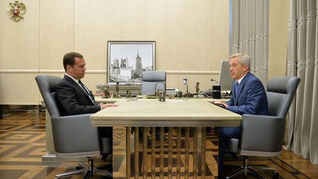 Рабочая встреча с губернатором Белгородской области Евгением Савченко