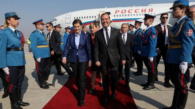 Официальный визит Дмитрия Медведева в Республику Сербия