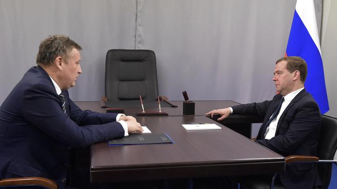 Рабочая встреча с губернатором Ленинградской области Александром Дрозденко