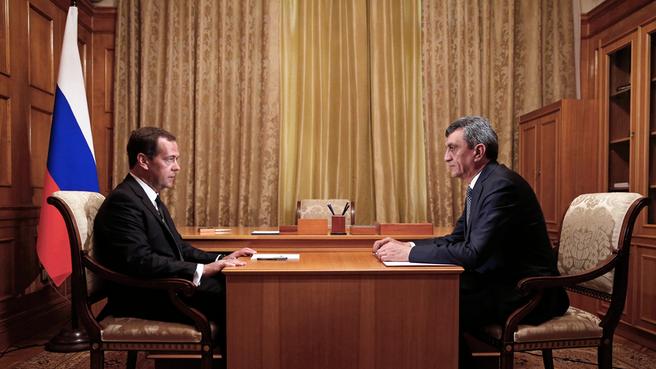 Беседа с губернатором Севастополя Сергеем Меняйло
