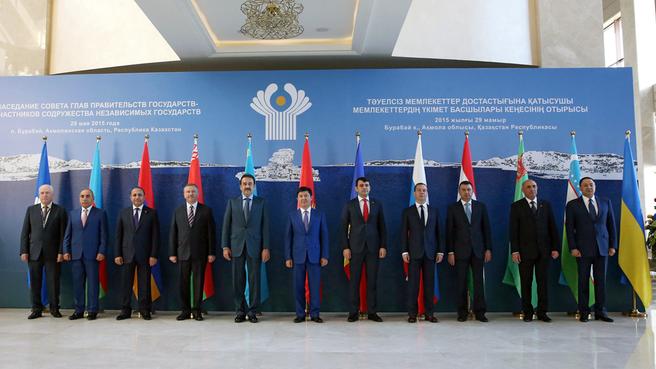 Главы делегаций, принимающих участие в заседании Совета глав правительств государств – участников СНГ