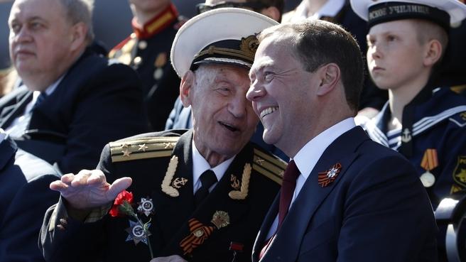 На военном параде в честь 73-й годовщины Победы в Великой Отечественной войне