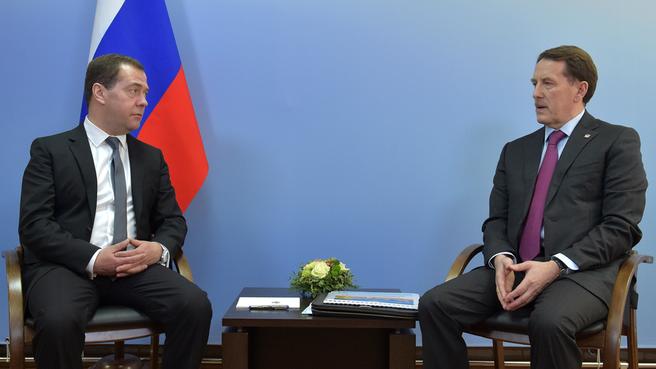 Рабочая встреча Дмитрия Медведева с губернатором Воронежской области Алексеем Гордеевым