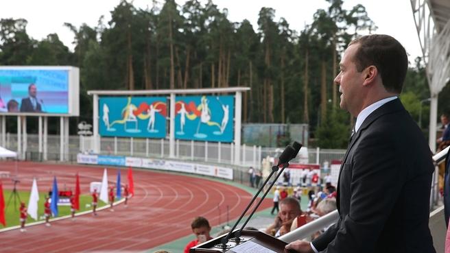 Выступление на церемонии открытия чемпионата России по лёгкой атлетике