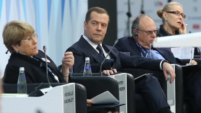 Выступление Верховного комиссара ООН по правам человека Мишель Бачелет на пленарном заседании форума