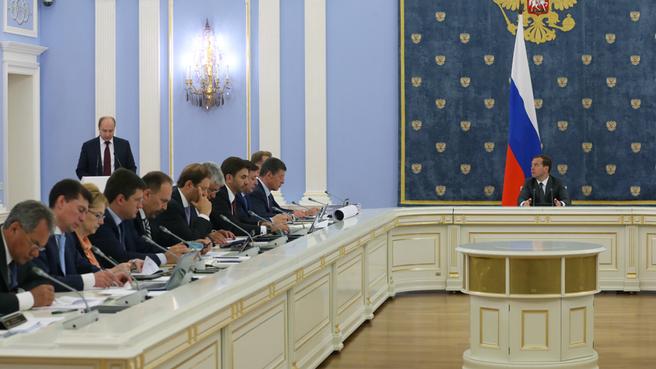 Доклад Александра Галушки на заседании Правительства