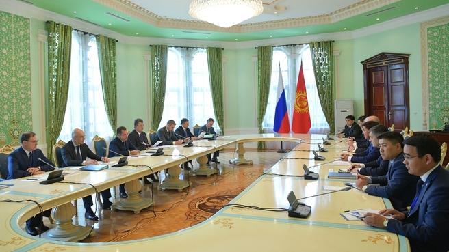 Встреча с Премьер-министром Киргизии Мухаммедкалыем Абылгазиевым