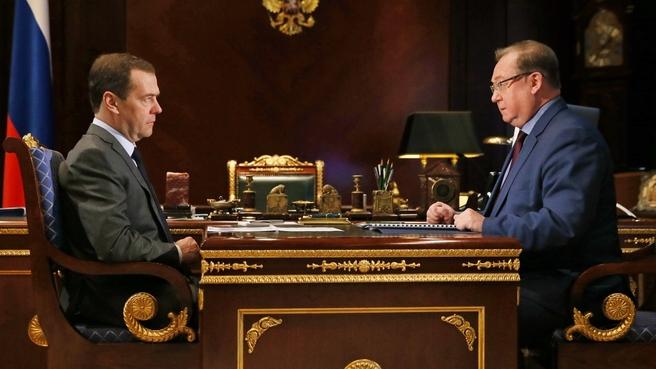 Встреча с председателем наблюдательного совета Фонда содействия реформированию жилищно-коммунального хозяйства Сергеем Степашиным