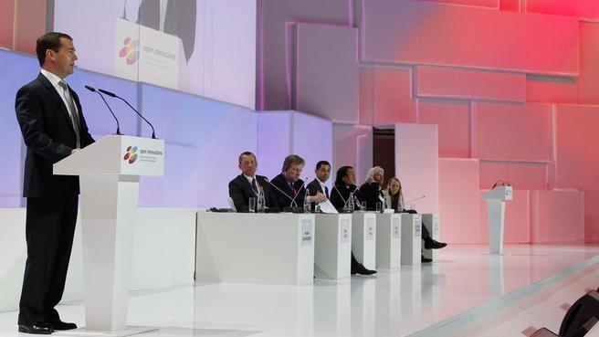 Выступление на пленарном заседании «Мир -2030: Видение, возможности, риски» в рамках Московского международного форума инновационного развития «Открытые инновации»