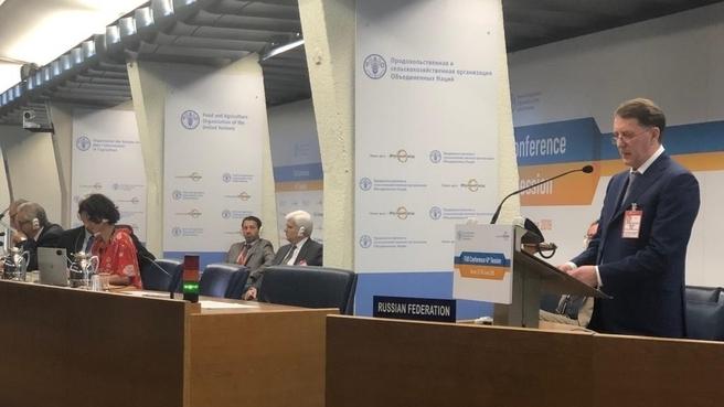 Выступление Алексея Гордеева на 41-й сессии Конференции Продовольственной и сельскохозяйственной организации ООН