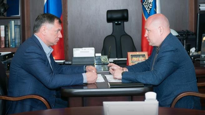 Беседа Марата Хуснуллина с  губернатором Севастополя Михаилом Развожаевым