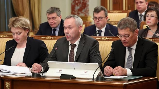 Сообщение губернатора Новосибирской области Андрея Травникова на заседании Правительства