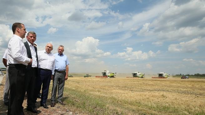 Поездка Дмитрия Медведева в Курскую область