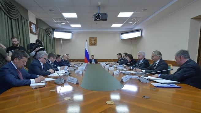 Совещание о развитии нефтяной отрасли в Российской Федерации