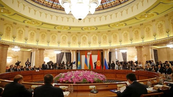 Заседание Евразийского межправительственного совета в расширенном составе