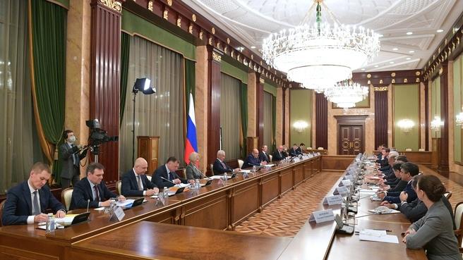 Встреча с руководством Государственной Думы и лидерами парламентских фракций