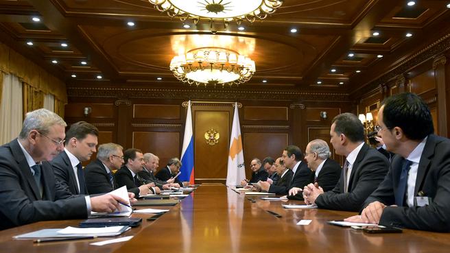 Встреча с Президентом Республики Кипр Никосом Анастасиадисом