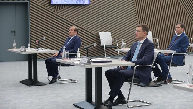 Александр Новак  на видеоконференции с представителями Ассоциации газовых хозяйств Сибири и Дальнего Востока «Сибдальвостокгаз»