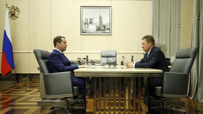 Встреча с председателем правления ПАО «Газпром» Алексеем Миллером