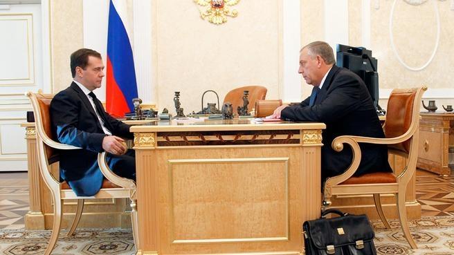 Рабочая встреча с губернатором Новгородской области Сергеем Митиным