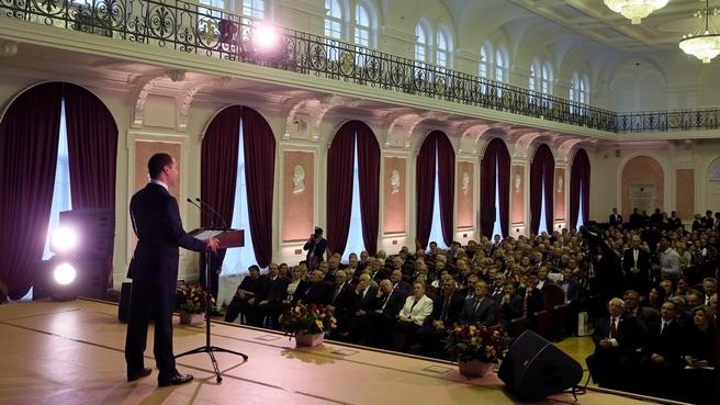 Выступление на торжественном заседании Учёного совета СПбГТИ