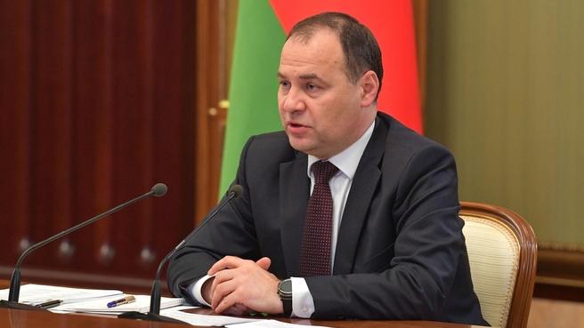 Российско-белорусские переговоры. Премьер-министр Республики Беларусь Роман Головченко
