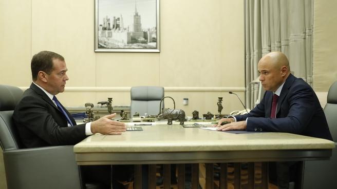Встреча с главой администрации Липецкой области Игорем Артамоновым