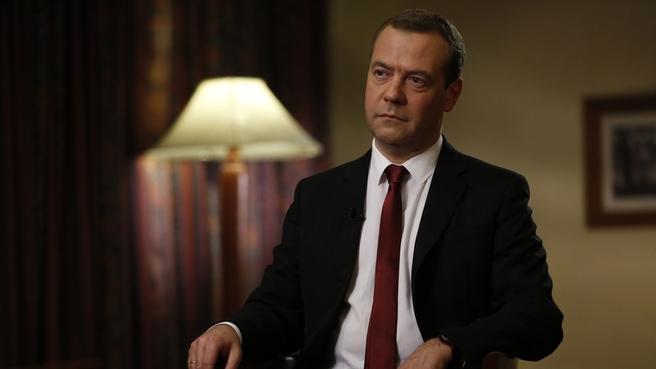 Интервью Дмитрия Медведева ведущему программы «Вести в субботу» Сергею Брилёву