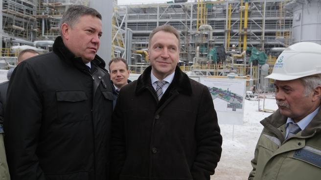 Посещение строящейся площадки для новых производств аммиака АО «ФосАгро-Череповец»