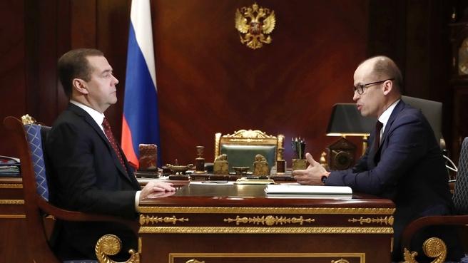 Встреча с главой Удмуртии Александром Бречаловым