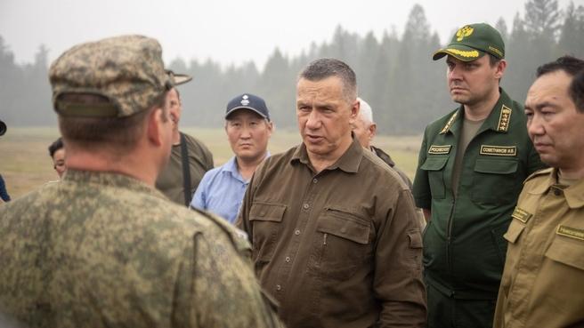 В рамках рабочей поездки в Республику Саха (Якутия) Юрий Трутнев посетил пострадавшие от пожара районы