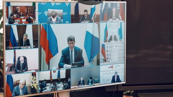 Заседание президиума Правительственной комиссии по вопросам социально-экономического развития Дальнего Востока (в режиме видеоконференции)