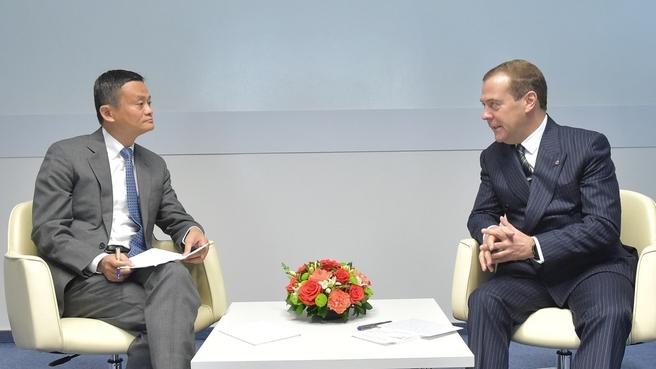 Встреча с председателем совета директоров компании Alibaba Group Джеком Ма