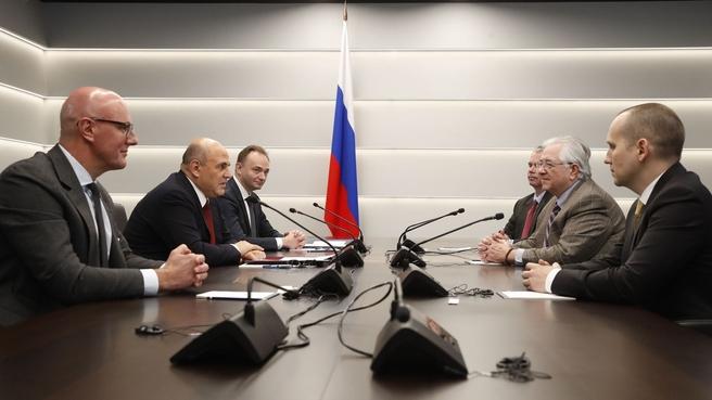 Встреча Михаила Мишустина с президентом Фонда ICPC
