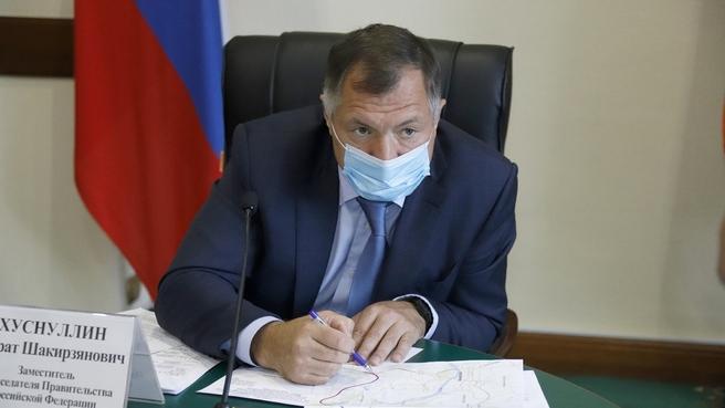 Марат Хуснуллин на совещании в Кемерове