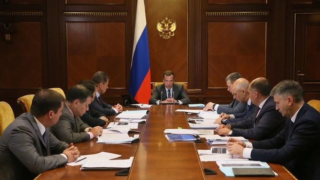 Совещание о расходах федерального бюджета на 2017–2019 годы в части сбалансированности бюджетов Российской Федерации