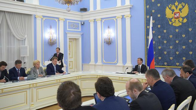 Доклад Владимира Мединского на заседании Правительства