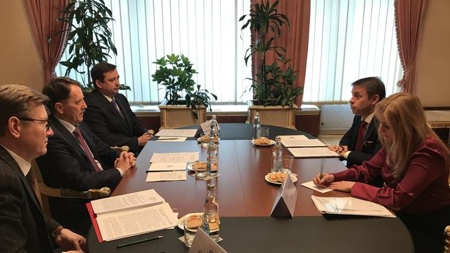 Встреча Алексея Гордеева с послом Венгрии в России Норбертом Конкоем