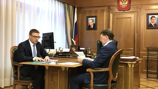 Встреча Алексея Гордеева с губернатором Челябинской области Алексеем Текслером