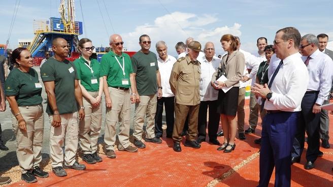 Посещение  буровой площадки месторождения Бока де Харуко